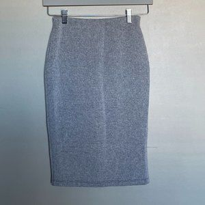 WAYF Revolve Where Are You From grey knit pencil skirt size XS